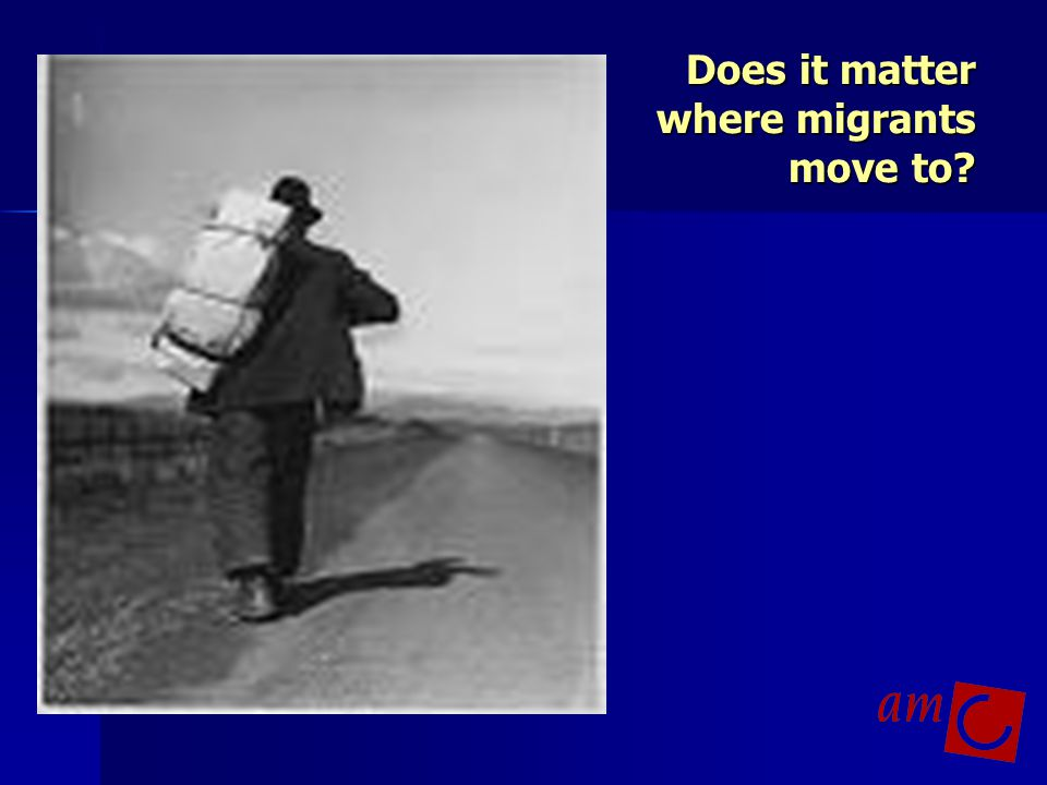 Does it matter where migrants move to
