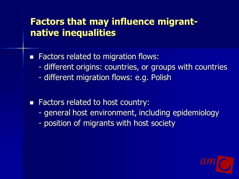 Factors that may influence migrant-native inequalities