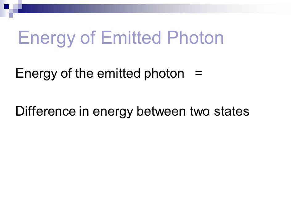 Energy of Emitted Photon