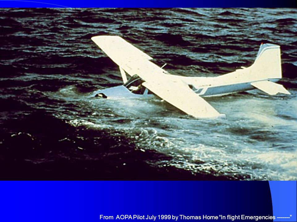 From AOPA Pilot July 1999 by Thomas Home In flight Emergencies