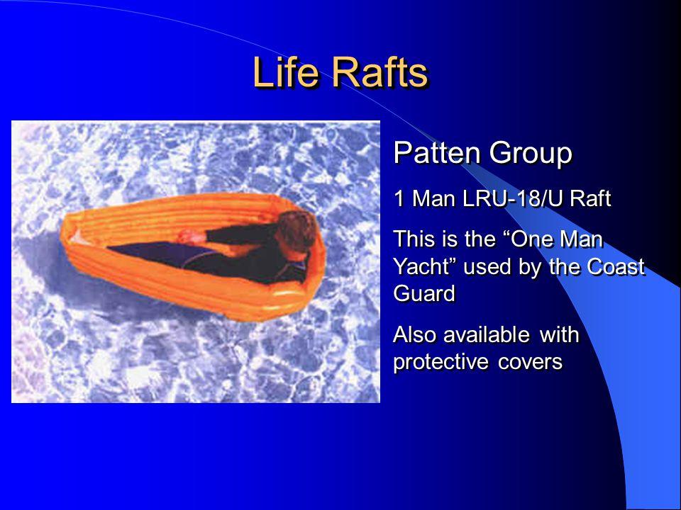 Life Rafts Patten Group 1 Man LRU-18/U Raft