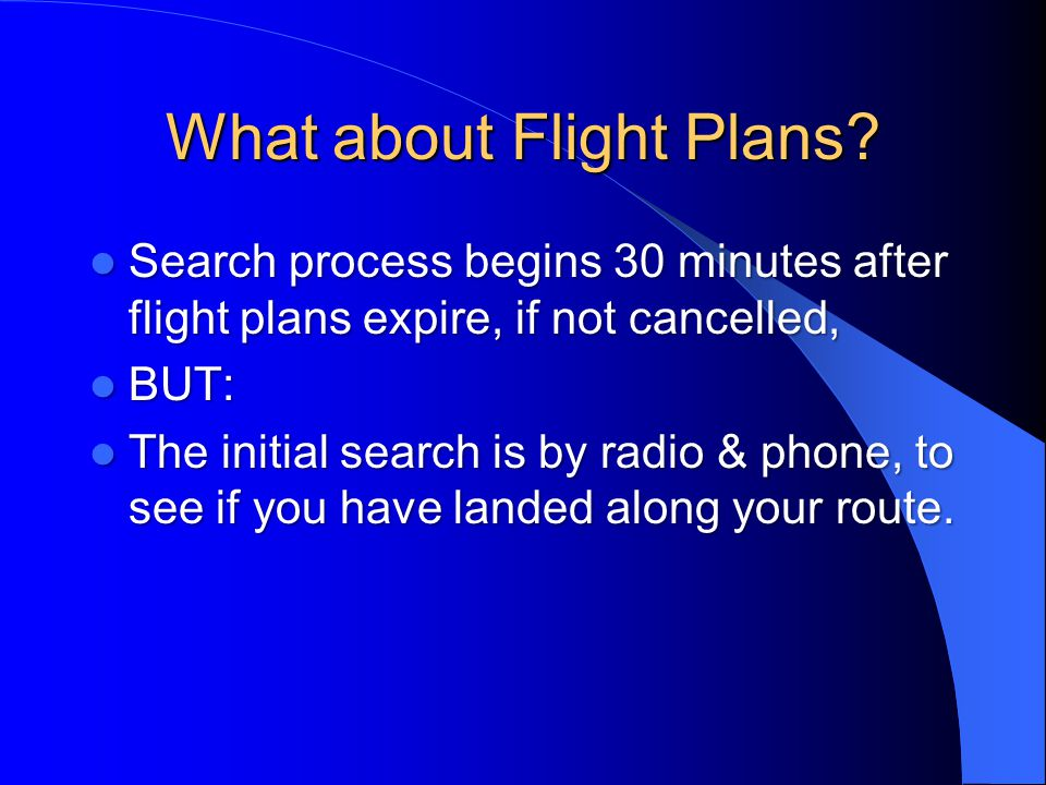 What about Flight Plans