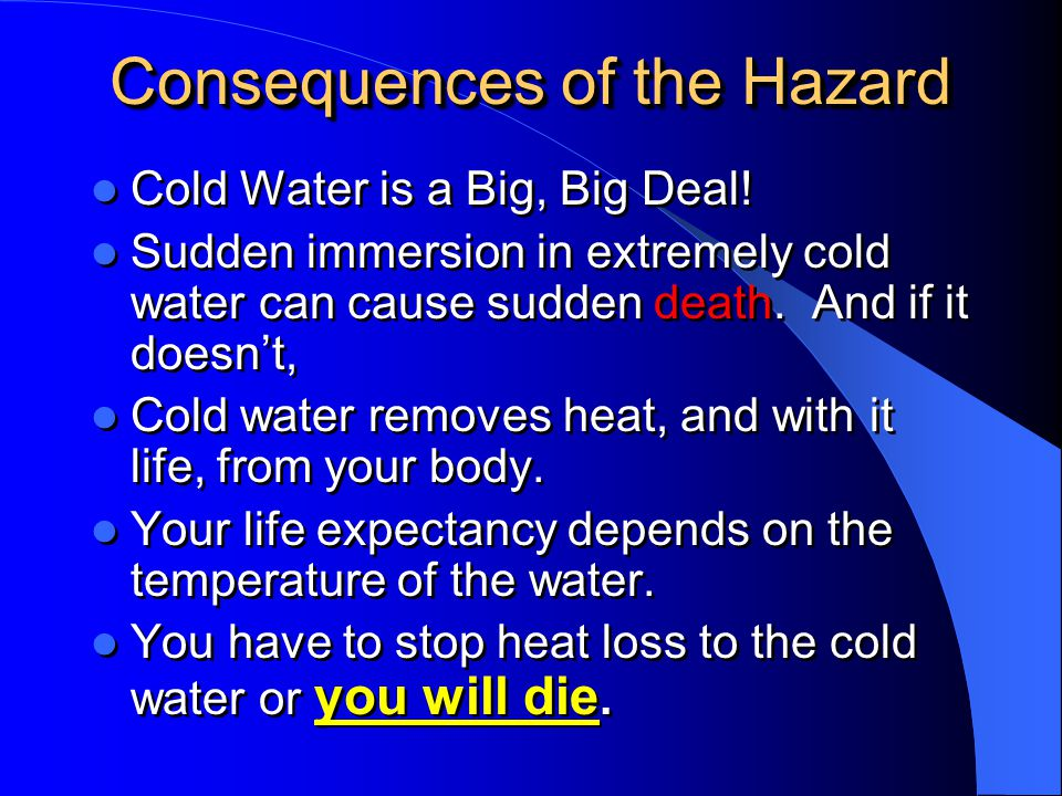 Consequences of the Hazard