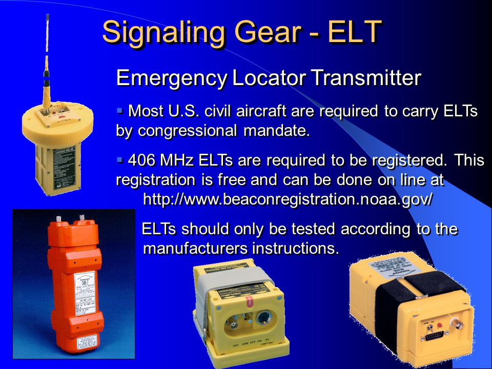 Signaling Gear - ELT Emergency Locator Transmitter