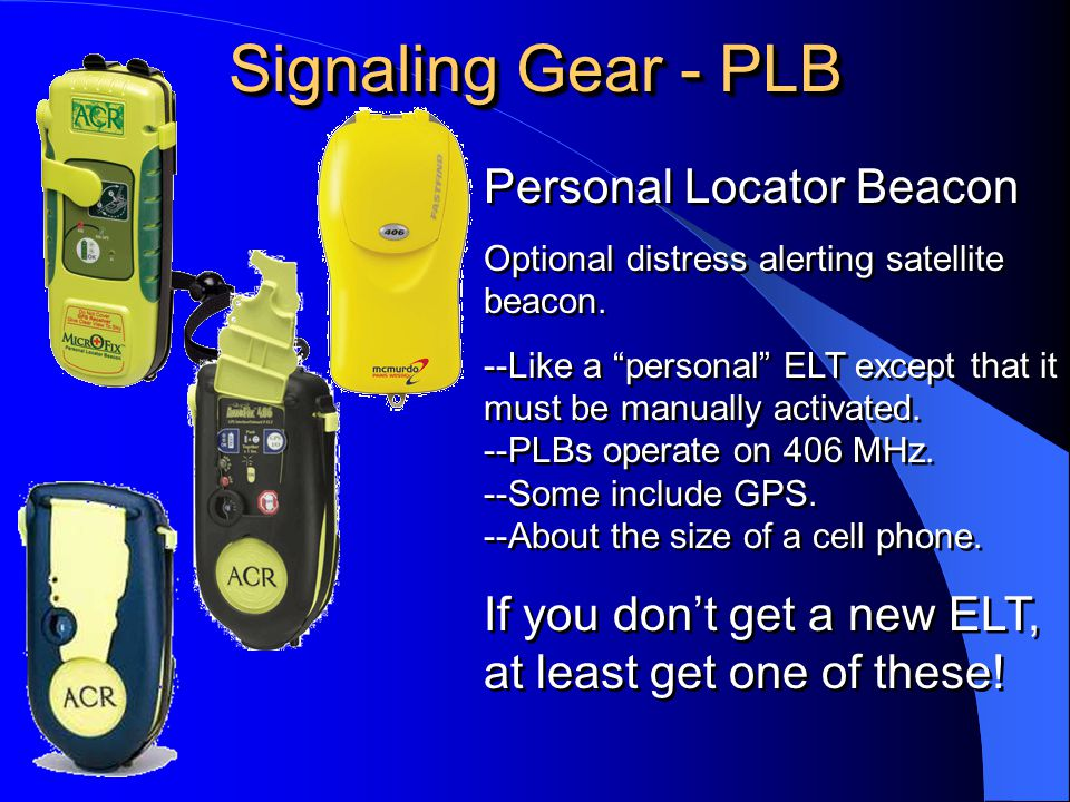 Signaling Gear - PLB Personal Locator Beacon