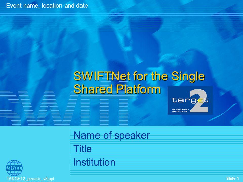 Name of speaker Title Institution