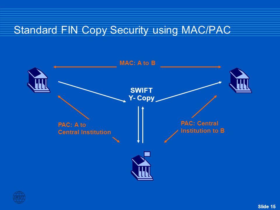 Standard FIN Copy Security using MAC/PAC