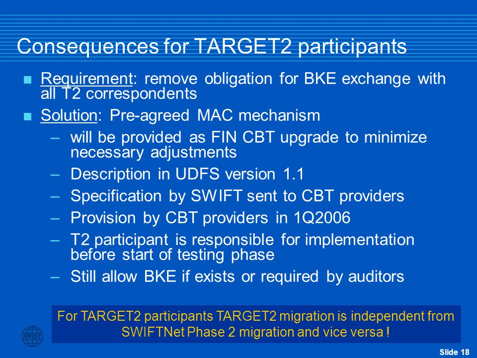 Consequences for TARGET2 participants