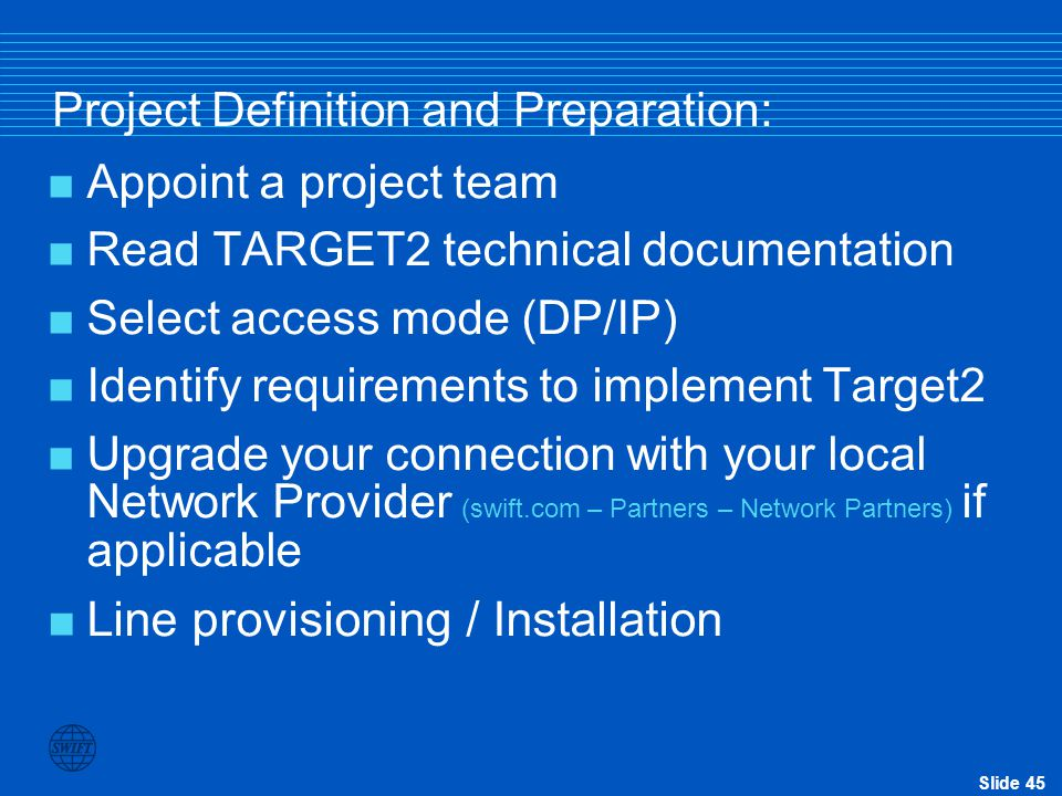 Project Definition and Preparation: