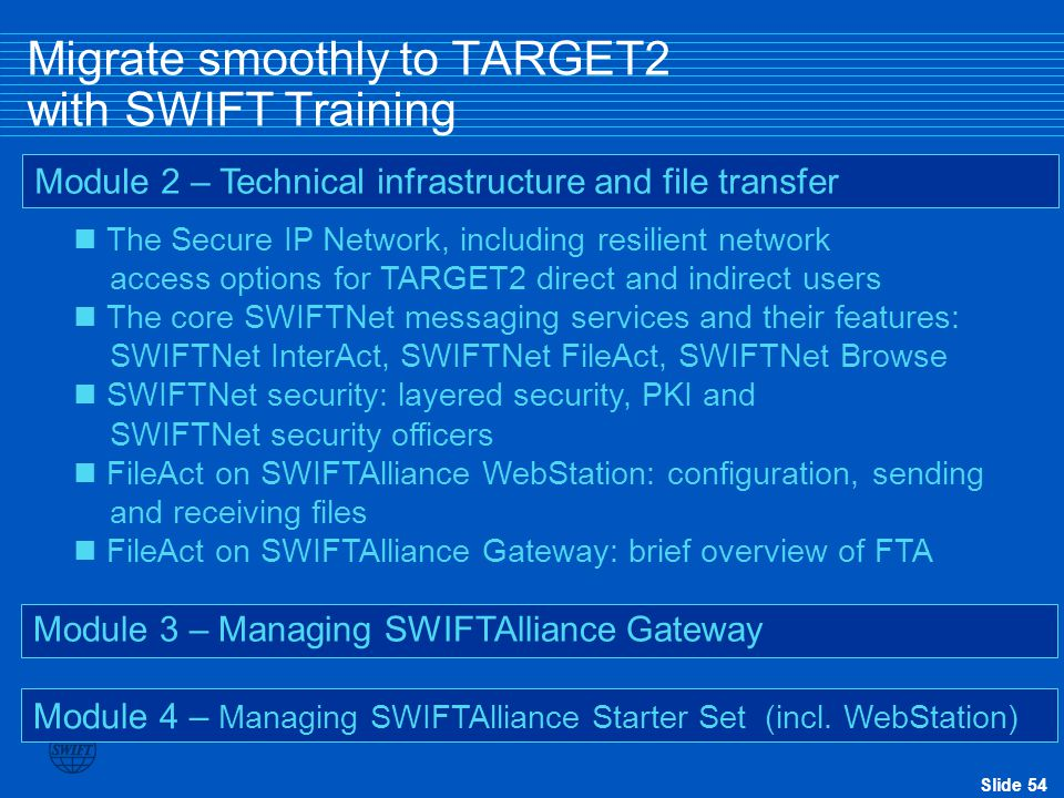 Migrate smoothly to TARGET2 with SWIFT Training