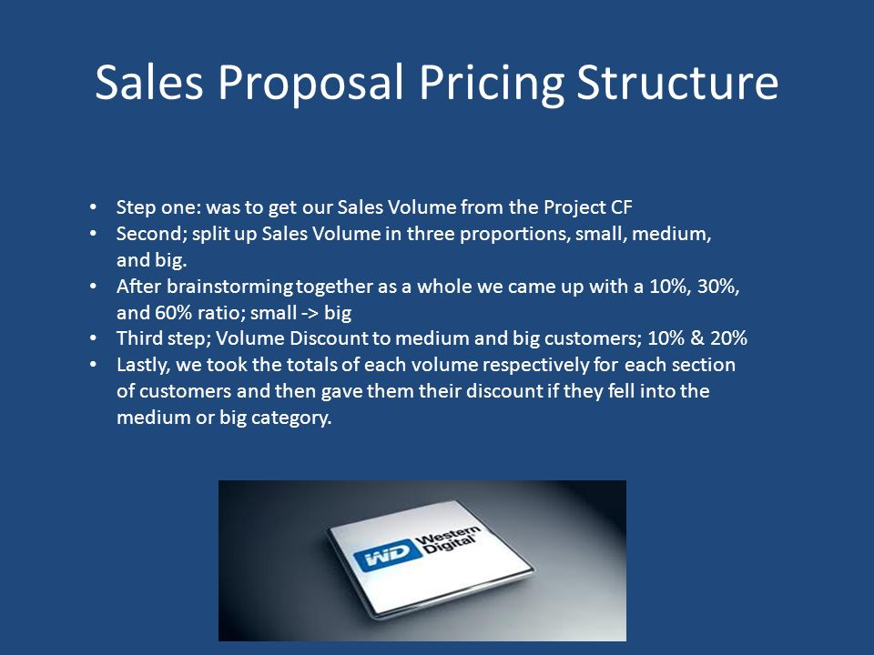 Sales Proposal Pricing Structure