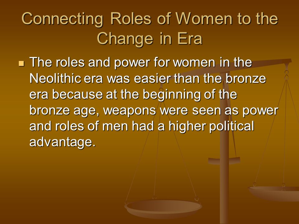 Connecting Roles of Women to the Change in Era