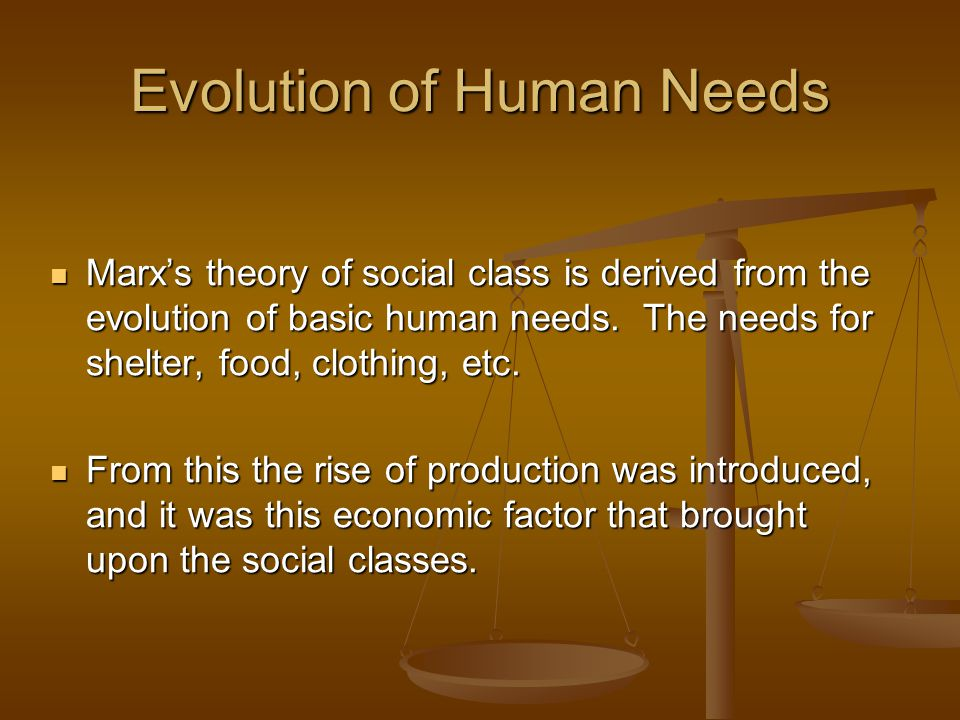 Evolution of Human Needs