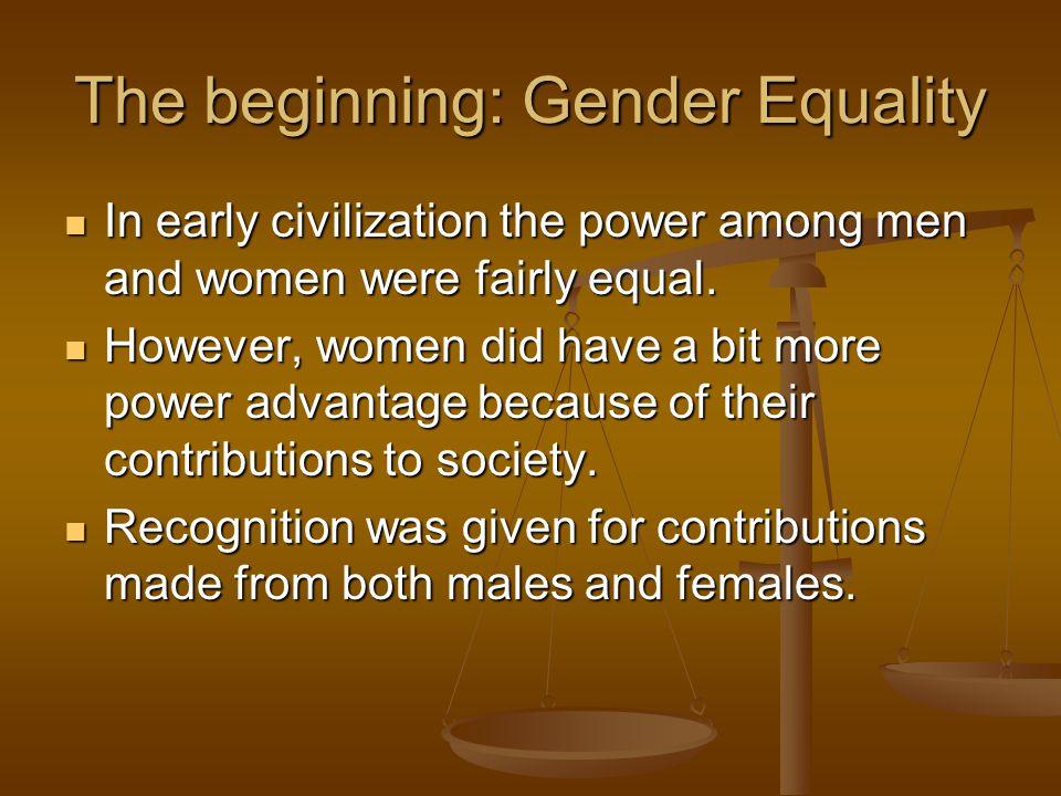 The beginning: Gender Equality