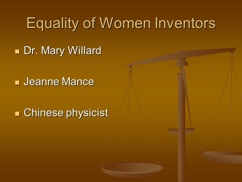 Equality of Women Inventors