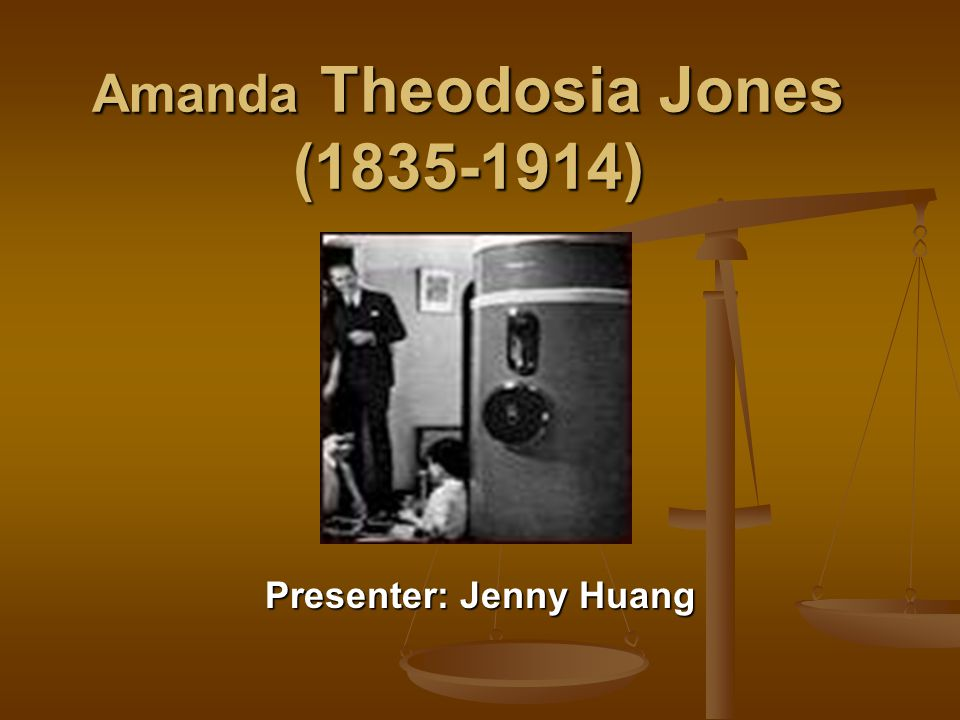 Amanda Theodosia Jones (1835-1914)