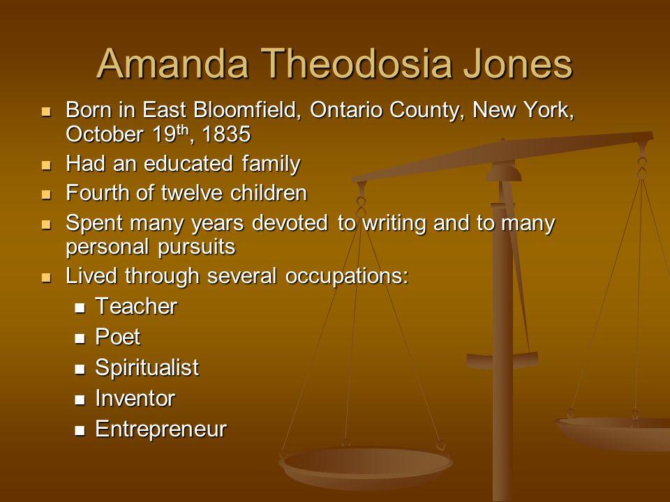Amanda Theodosia Jones