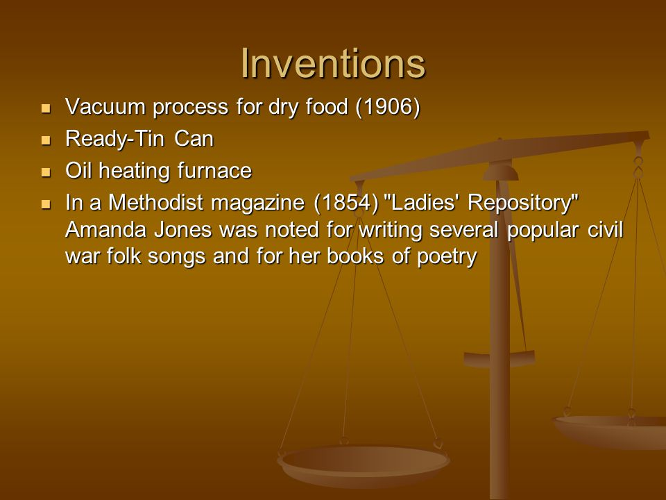 Inventions Vacuum process for dry food (1906) Ready-Tin Can