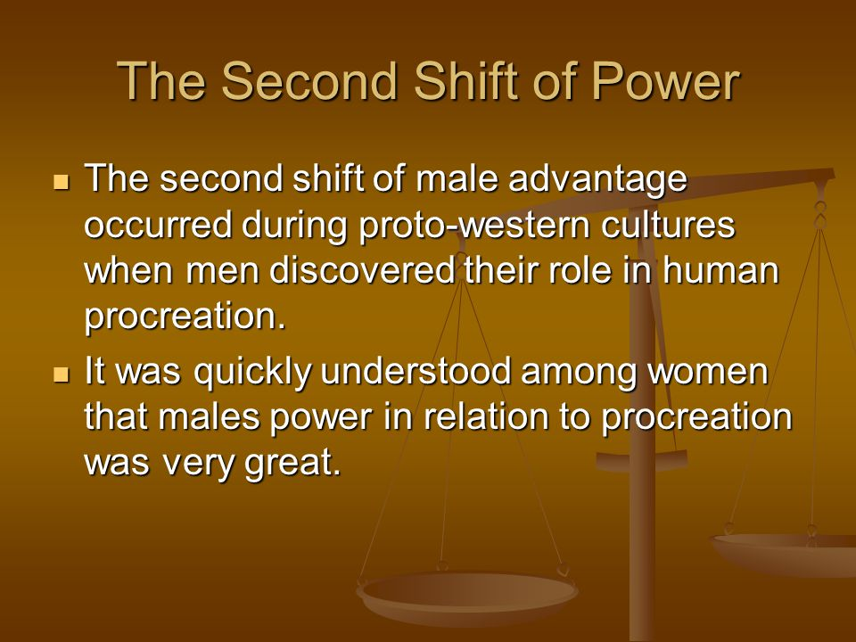 The Second Shift of Power