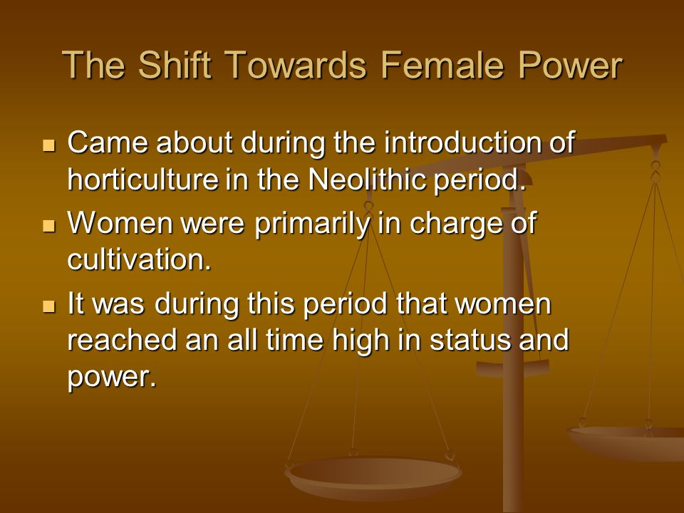 The Shift Towards Female Power
