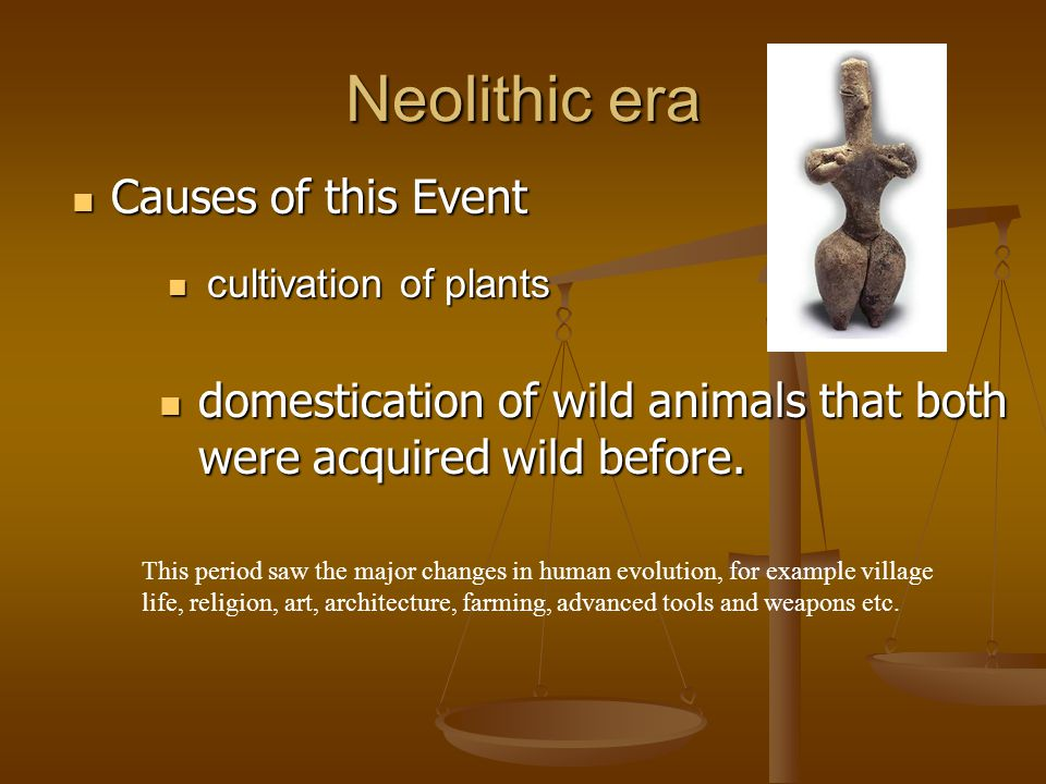 Neolithic era Causes of this Event