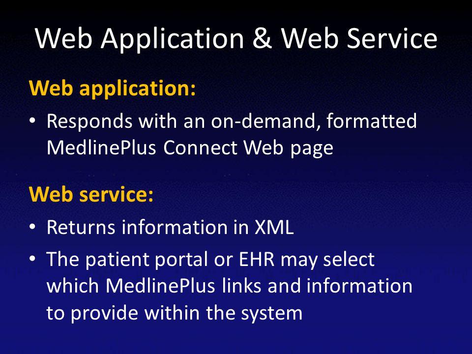 Web Application & Web Service