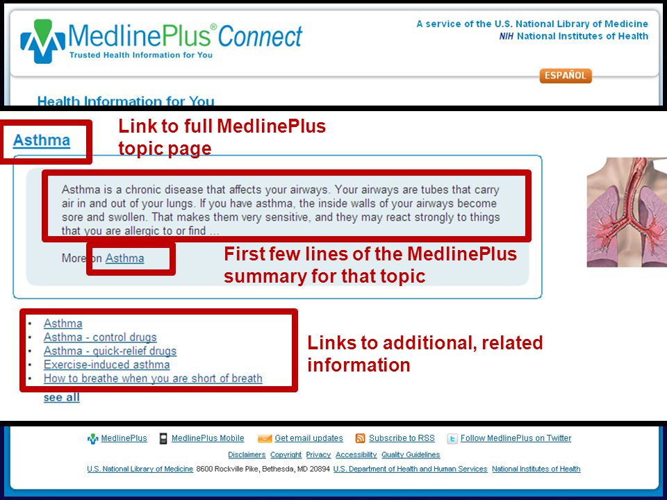 Link to full MedlinePlus topic page