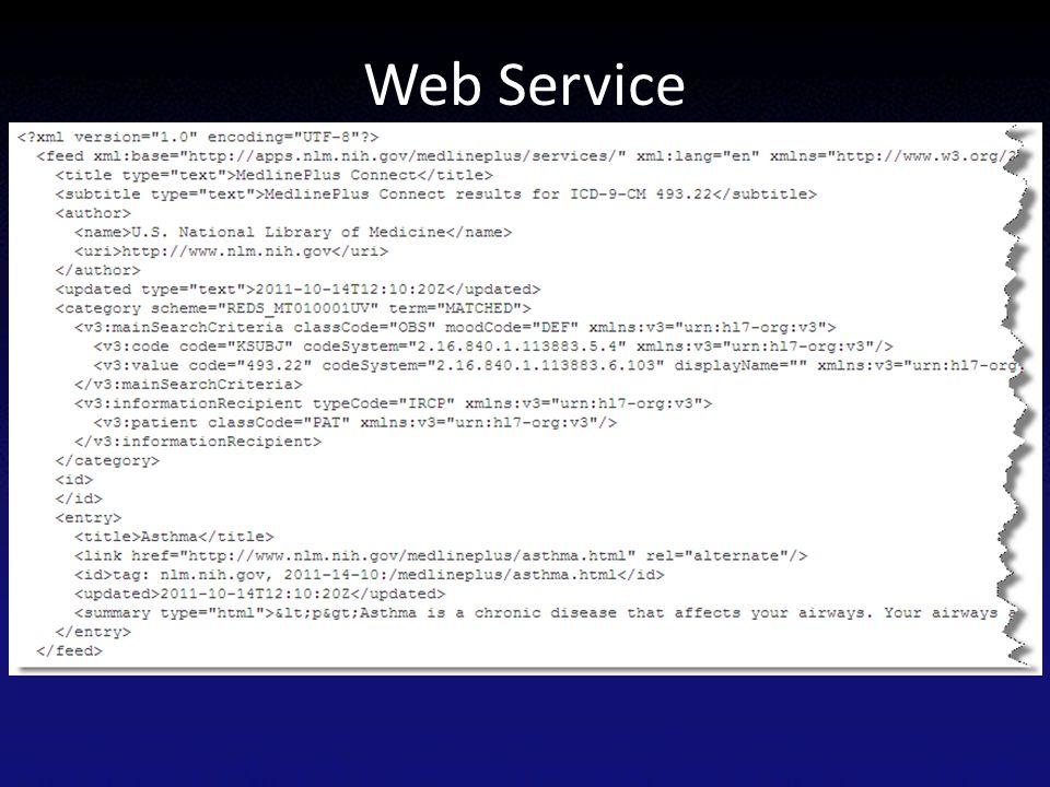 Web Service Returns information in XML