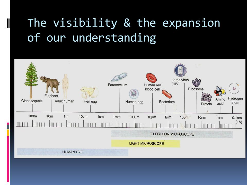 The visibility & the expansion of our understanding