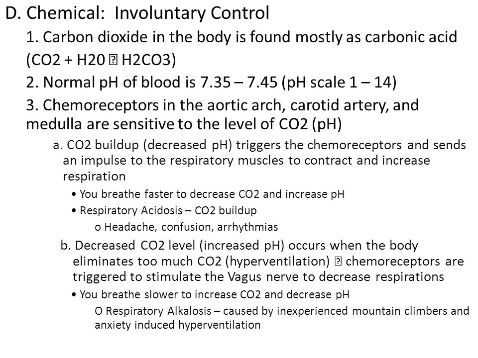 D. Chemical: Involuntary Control