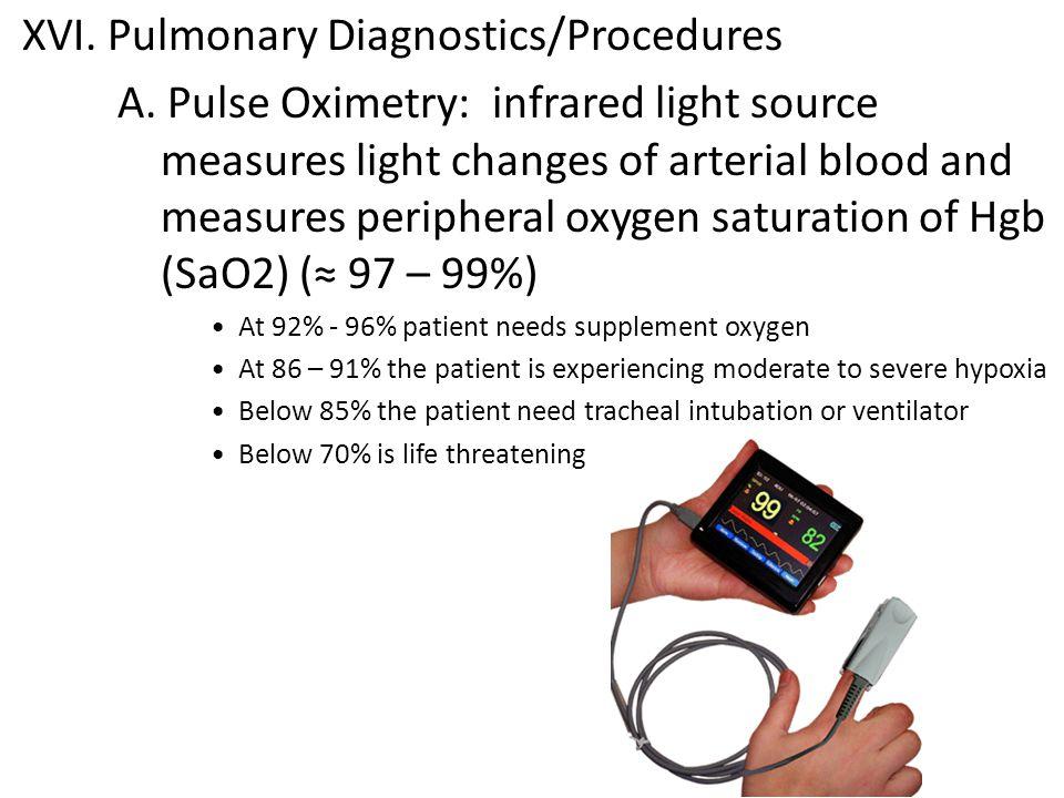 XVI. Pulmonary Diagnostics/Procedures