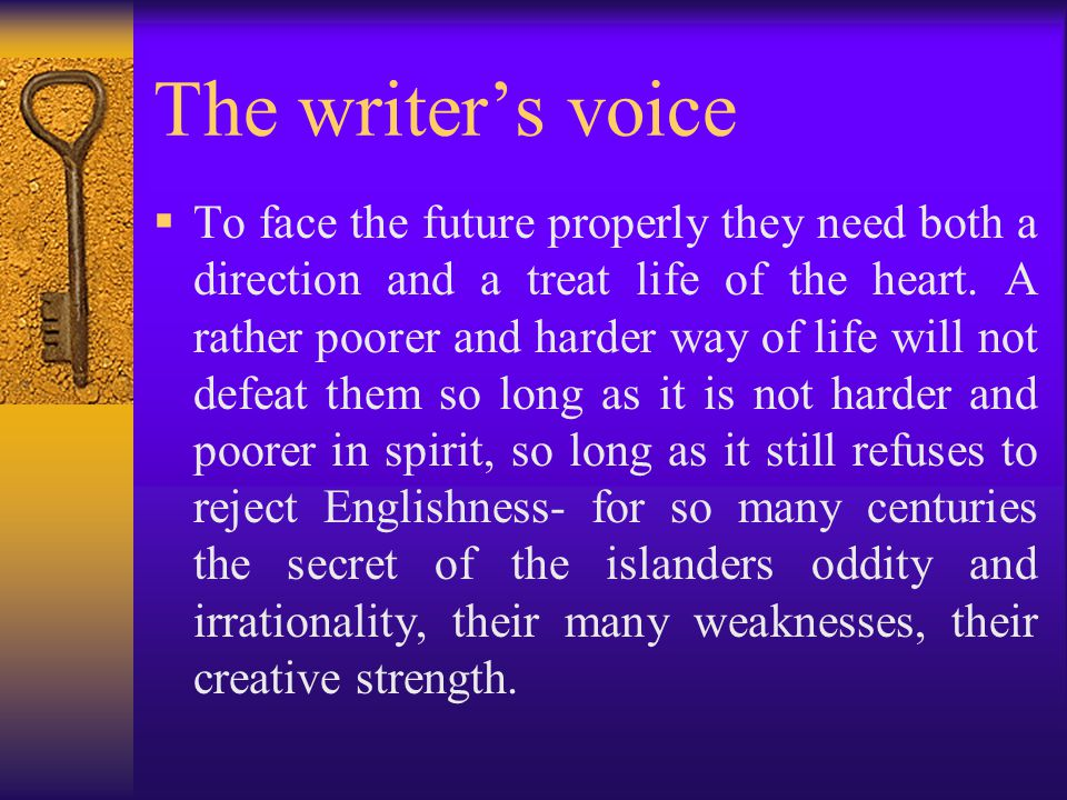The writer's voice