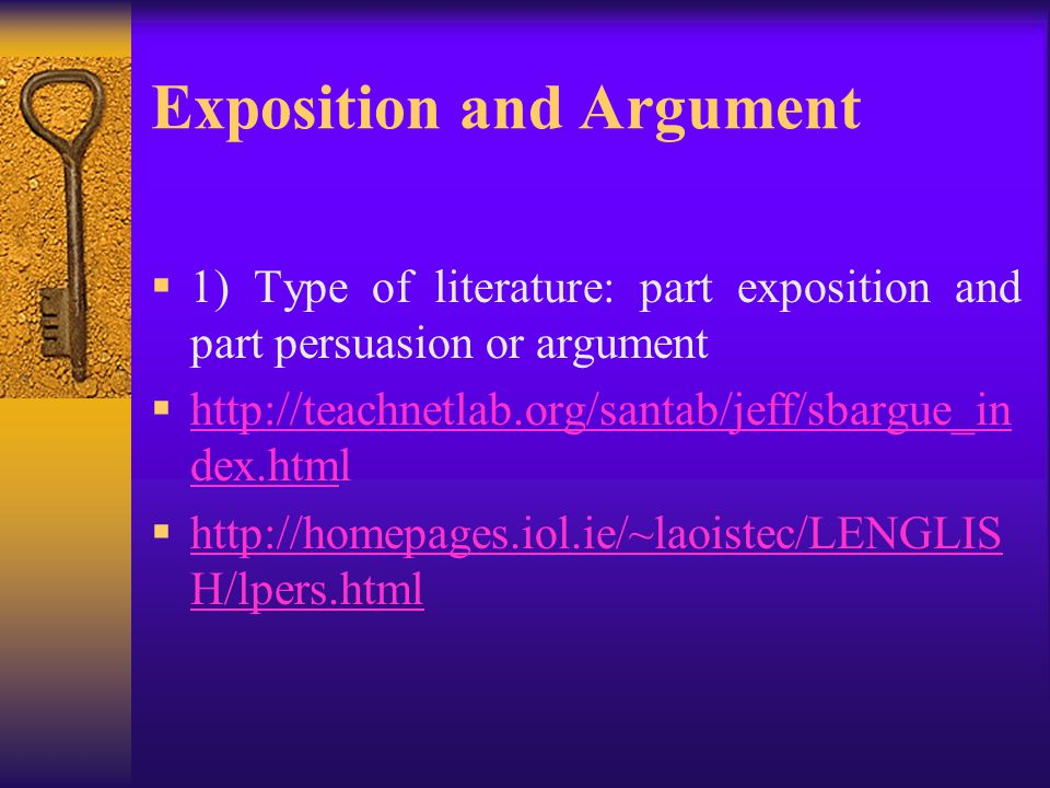 Exposition and Argument