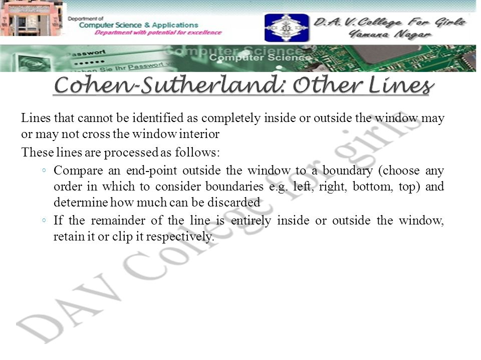 Cohen-Sutherland: Other Lines