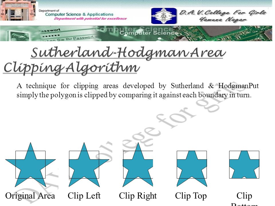 Sutherland-Hodgman Area Clipping Algorithm