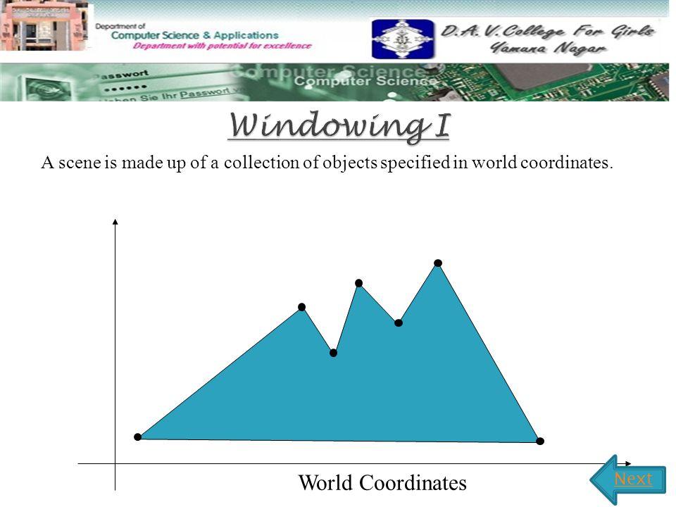 Windowing I World Coordinates
