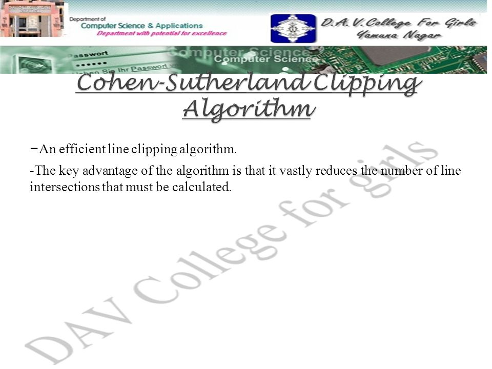 Cohen-Sutherland Clipping Algorithm