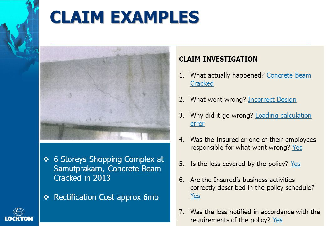 CLAIM PROCESS Claim First Made Pay Defense, Investigation CLAIMANT