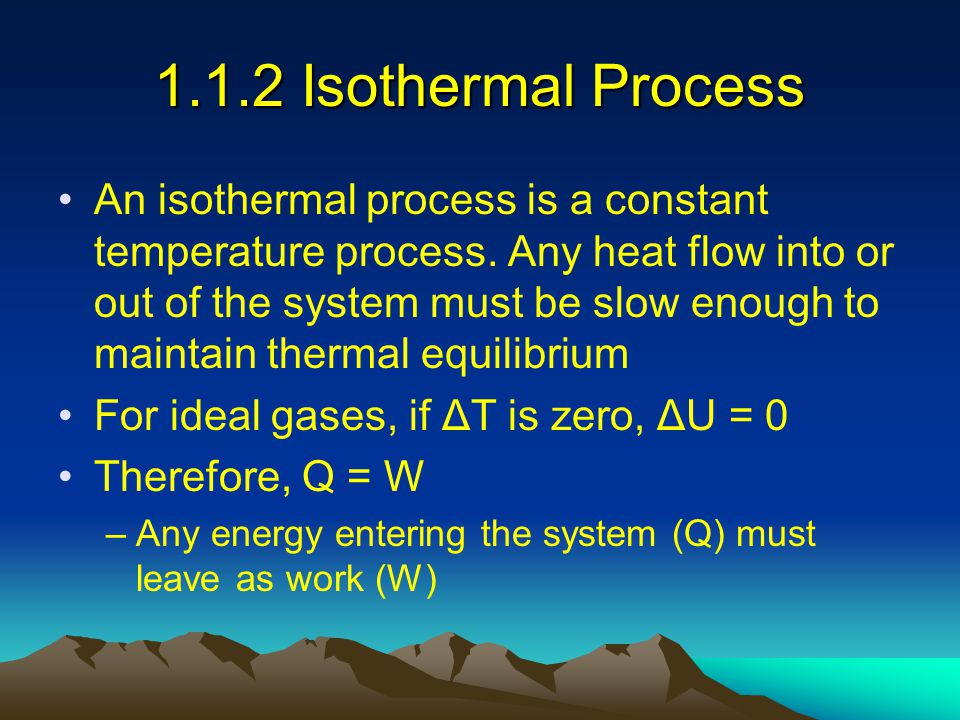 1.1.2 Isothermal Process