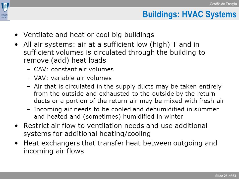 Buildings: HVAC Systems