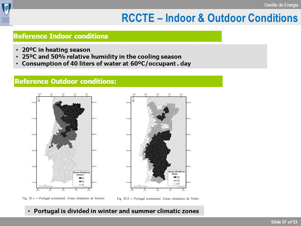 RCCTE – Indoor & Outdoor Conditions
