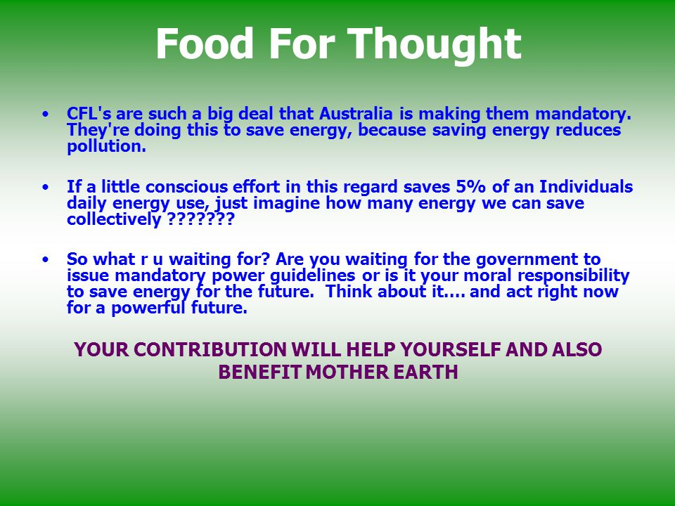 YOUR CONTRIBUTION WILL HELP YOURSELF AND ALSO