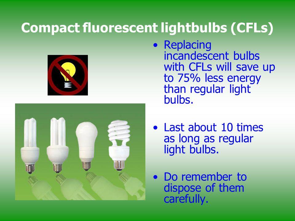 Compact fluorescent lightbulbs (CFLs)