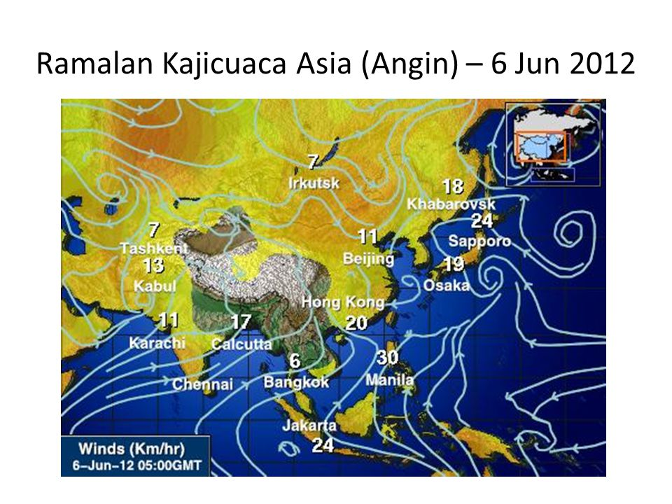 Ramalan Kajicuaca Asia (Angin) – 6 Jun 2012