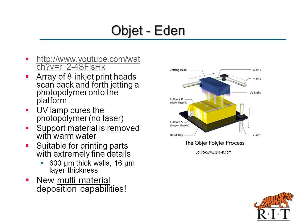 Objet - Eden New multi-material deposition capabilities!
