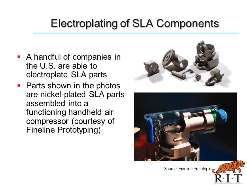Electroplating of SLA Components