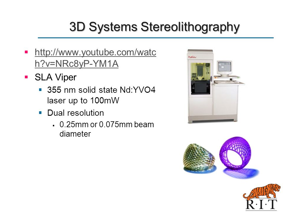 3D Systems Stereolithography
