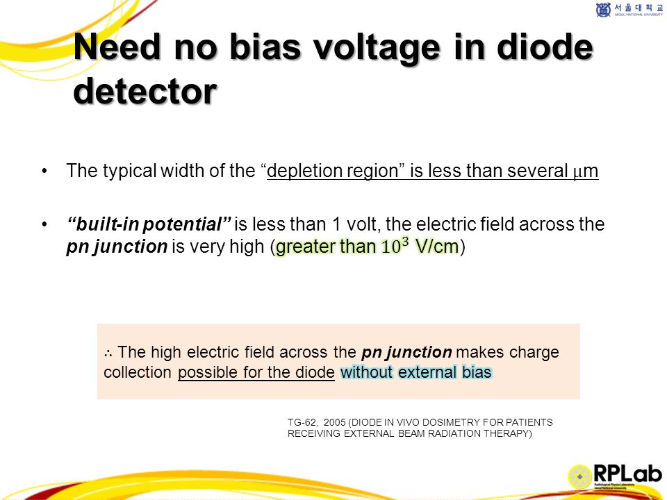 Need no bias voltage in diode detector