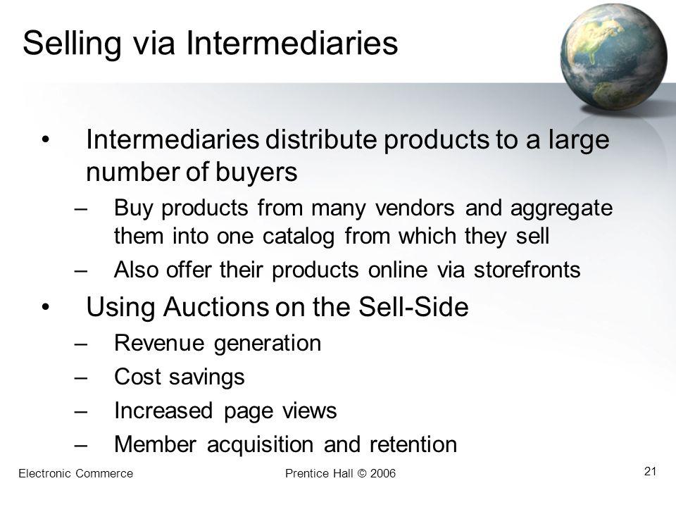 Selling via Intermediaries