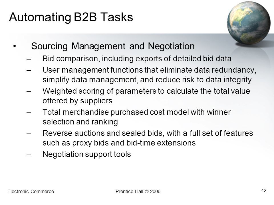 Automating B2B Tasks Sourcing Management and Negotiation
